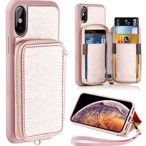Accessories - NEW Rose Gold iPhone X XS Wallet Case